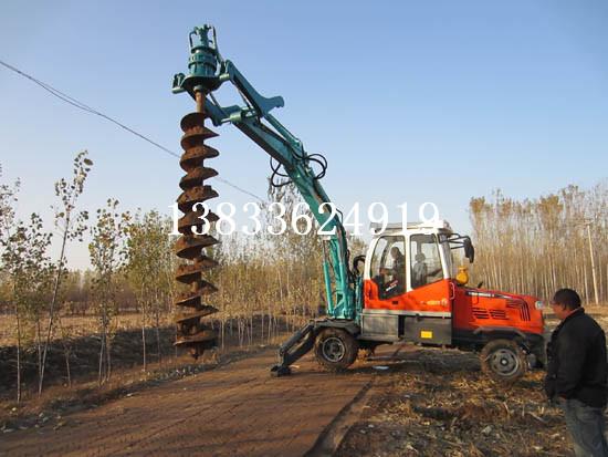 挖掘机改装挖坑机 钻孔机 钻眼机 挖掘机厂家