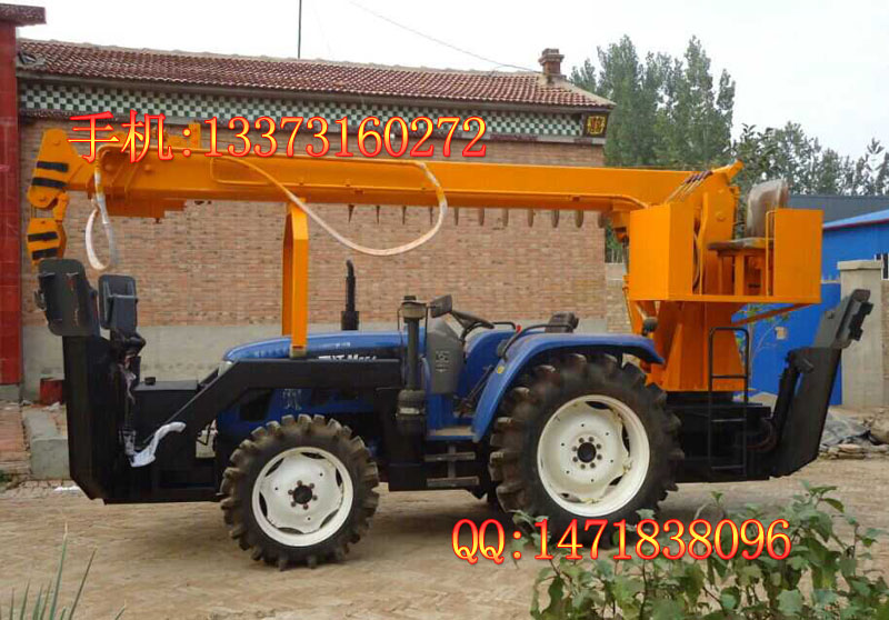 [拖拉机打桩机] 拖拉机吊钻一体机 _厂家机