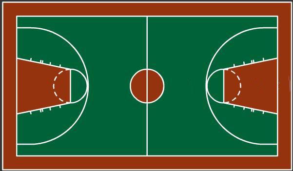 篮球场的长是28米,宽是15米.它的面积是多少平