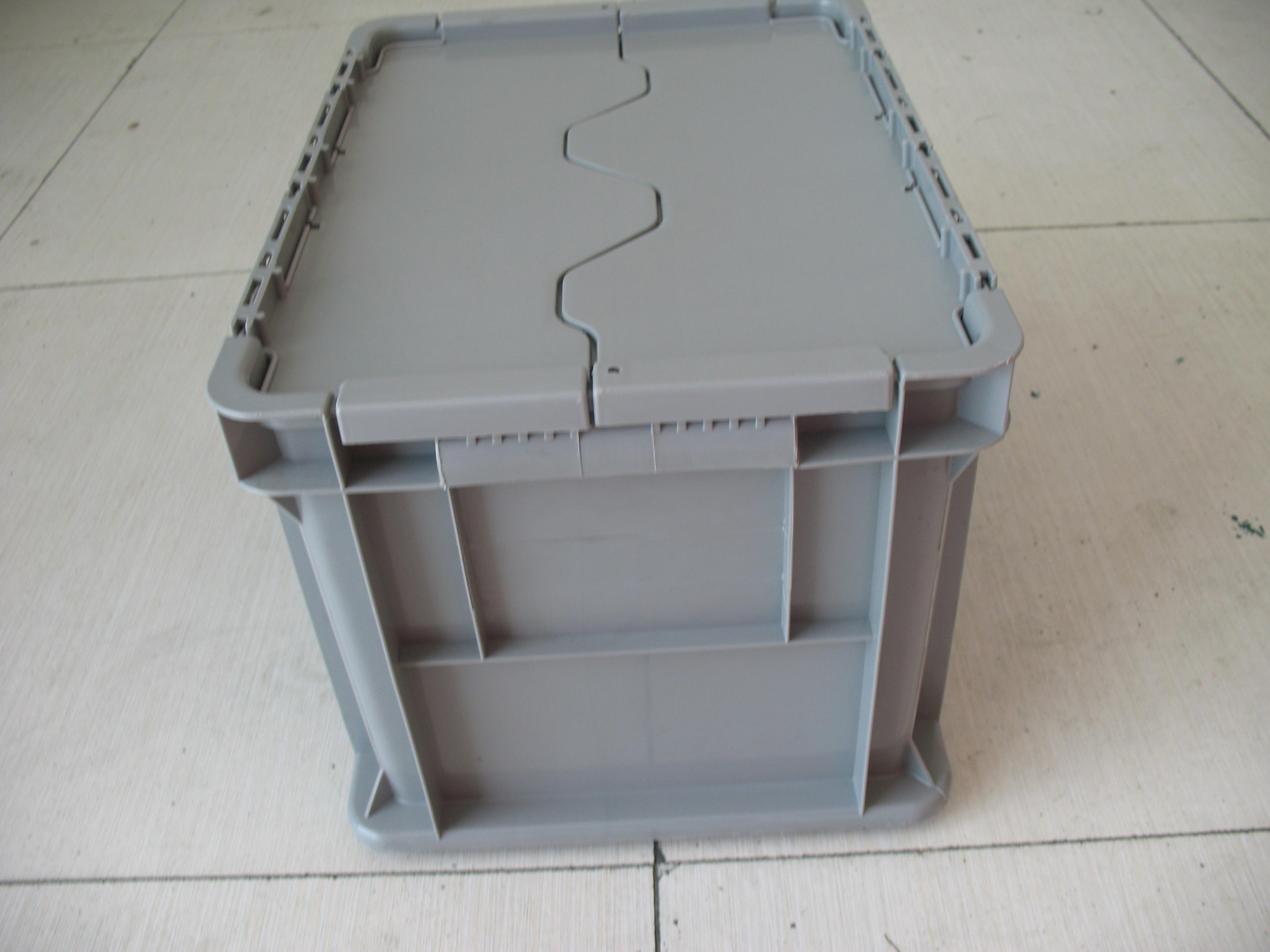 塑料周转箱生产厂家上海渠晟批发塑料周转箱 防静电周转箱四周带卡槽 食品塑料箱重庆
