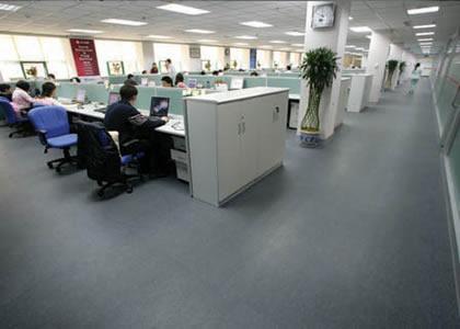 淄博商场写字楼PVC塑胶地板