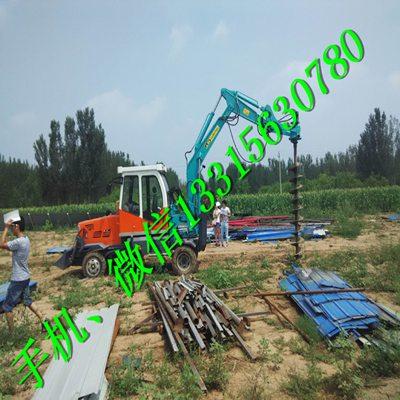 钩机挖坑机 勾机挖坑机 打孔机 轮式挖掘机挖坑机 植树旋挖钻