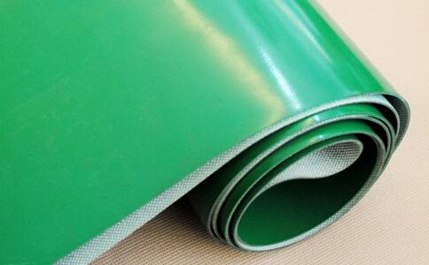 绿色输送线皮带,生产线平面输送带,流水线挡板传送带