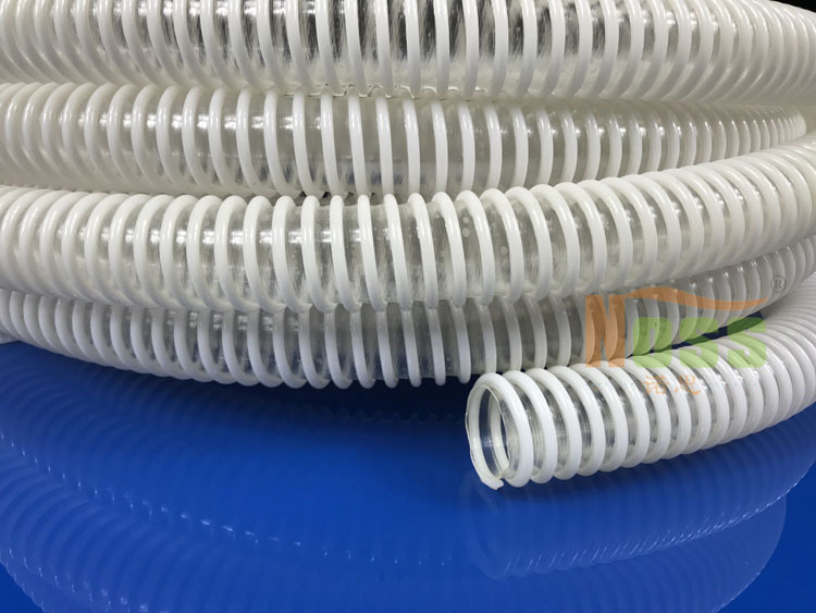 PVC透明钢丝吸尘管  PVC塑料吸尘钢丝管 PVC钢丝伸缩软管