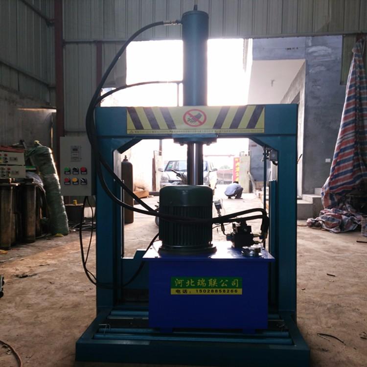 切胶机  大块塑胶液压切割机 塑料管材液压切割机