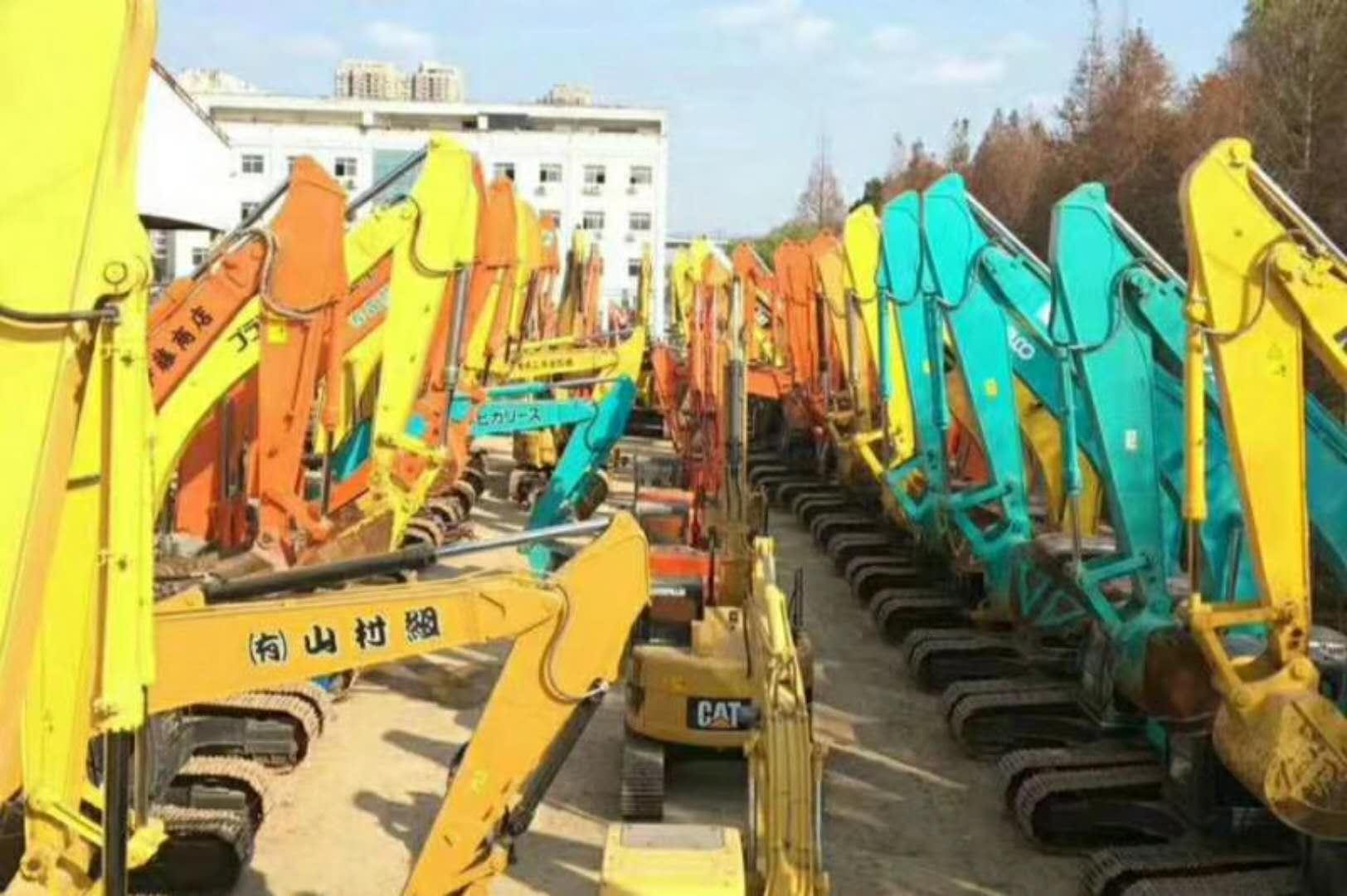 二手挖掘机、上海二手挖掘机市场