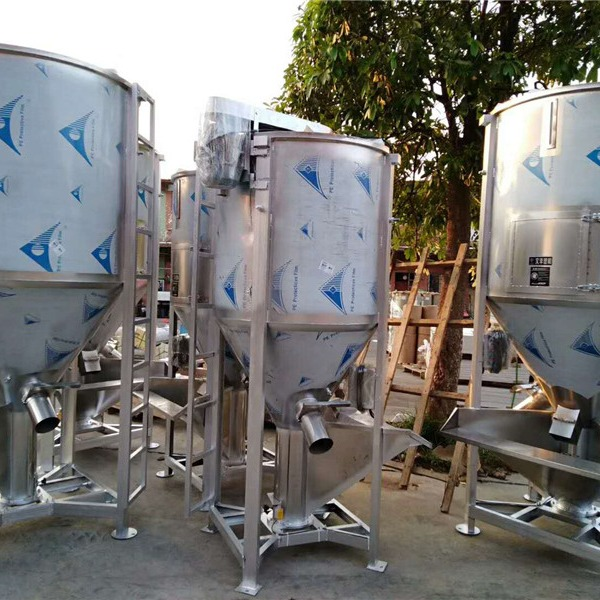 供应广州花都1吨螺杆搅拌机 不锈钢立式拌料机  广西塑料混料机价格