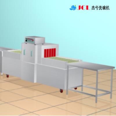 杰兮大型周转箱清洗机 塑料筐保温箱清洗设备 自动洗筐机厂家
