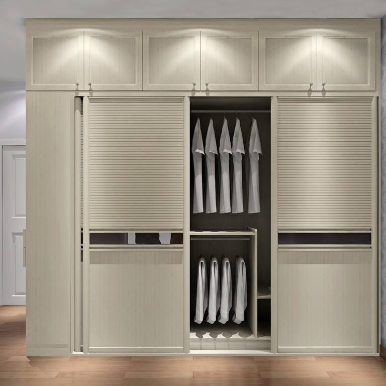 广州家居热线,定制装修,卧室用衣柜,现代简约整体衣柜