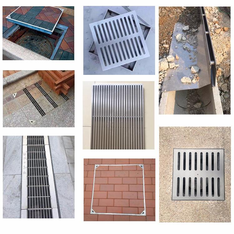 定制304不锈钢隐形井盖窨井盖方形阴井雨水井盖排水沟地沟盖板