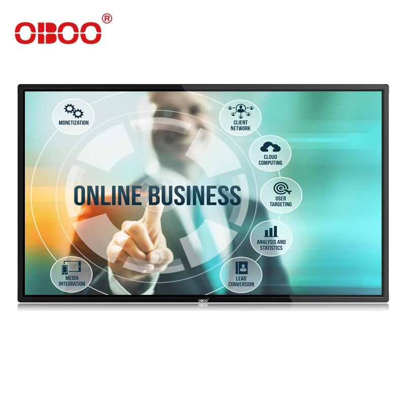 OBOO厂家直销电商壁挂式43寸高清智能安卓触摸屏终端机触摸一体机