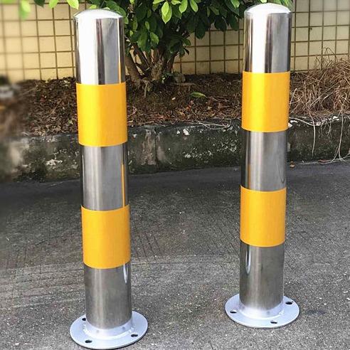 道理预埋防撞柱厂家定制 桩 小型不锈钢警示柱