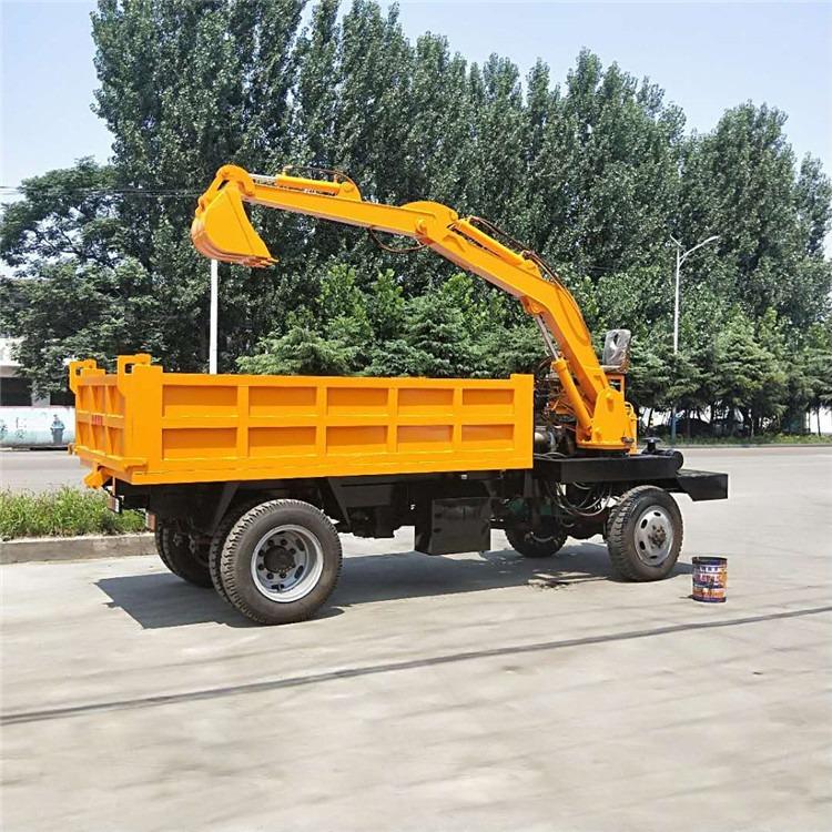 小型车载式挖掘机定制_四驱四不像挖掘机厂家直销