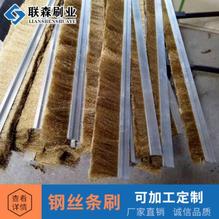 厂家供应铜丝不锈钢丝条刷 防尘密封去污清理条形毛刷