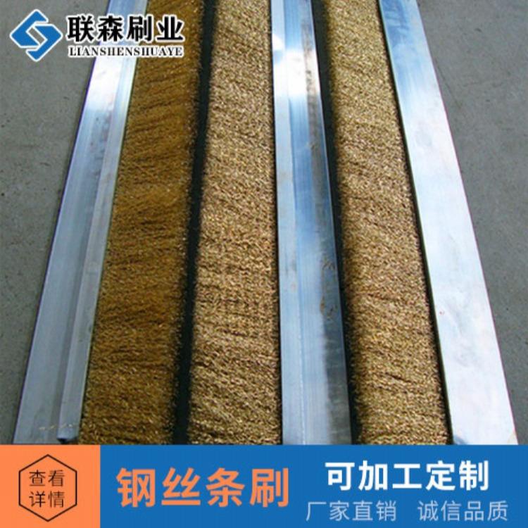 厂家批发 供应铜丝不锈钢丝条刷 防尘密封去污清理条形毛刷
