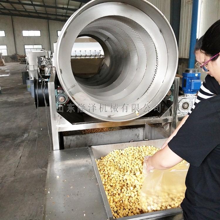 爆米花生产加工流水线机器设备 全自动爆米花流水线加工设备 大型全自动球形爆米花机 爆米花炒锅价格