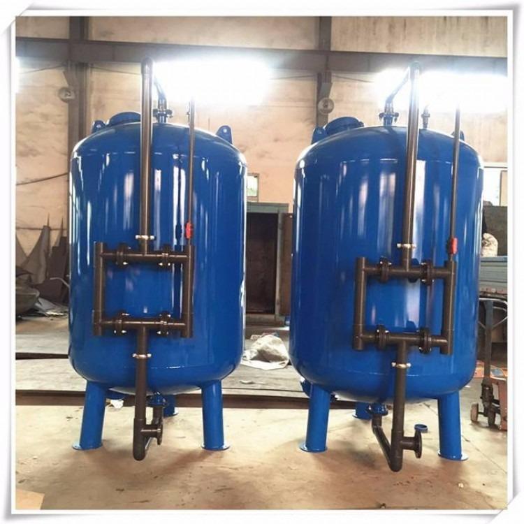 供应立式活性炭过滤器不锈钢多介质碳钢衬胶机械过滤器壳体 污水过滤罐 自来水过滤器 石英砂活性碳