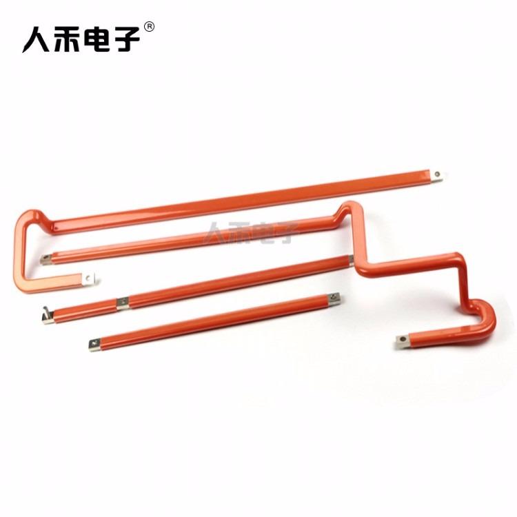 电气输电成套 定制新能源浸塑异型折弯铜排硬连接