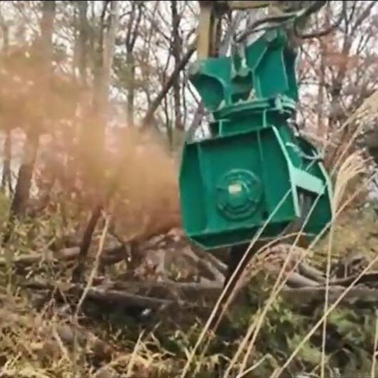 挖掘机碎木机  液压螺旋粉碎树木 挖掘机粉碎机 绿化园林树枝粉碎设备