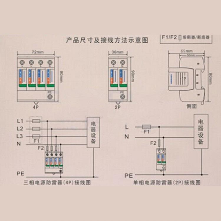 源类防雷器,防雷电设备 三相模块式电源防雷器