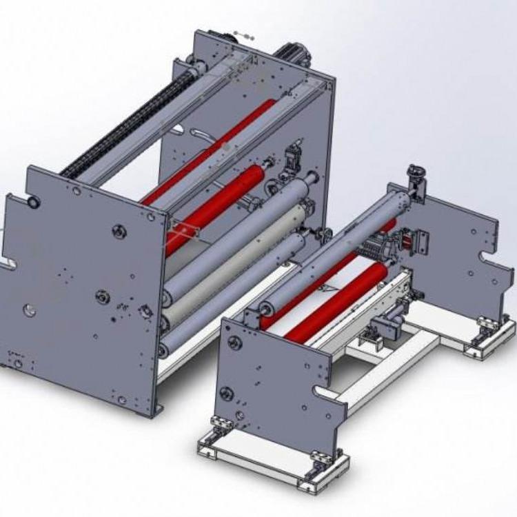 批发生产 小型水晶透明复卷机 高精度胶带分条机