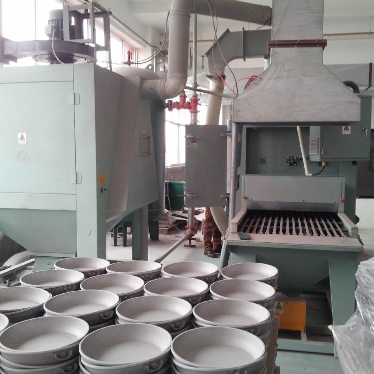环保钛合金不粘锅喷砂机,铝制不粘锅喷砂设备,压铸不粘锅喷砂机生产厂家