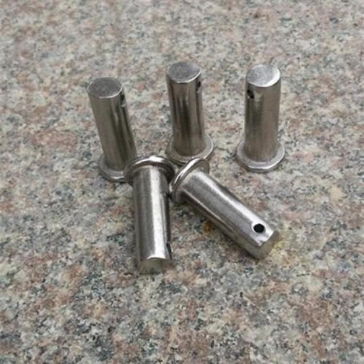 厂家直销 8.8级带孔平头销轴 定位销 销钉基地生产厂家 加工定制异型销轴
