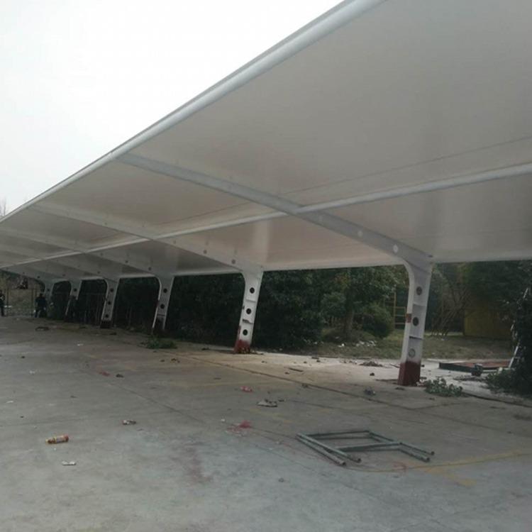 华奥膜结构自行车棚 膜结构停车棚