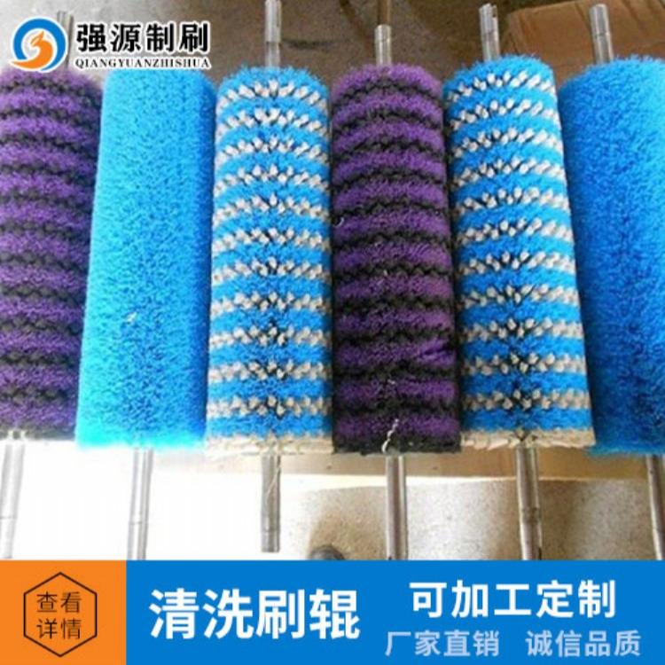 供应钢板厂缠绕式清洗刷辊,尼龙刷辊,钢丝刷辊高质量耐磨毛刷辊