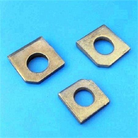 厂家直 销 多规格铁镀锌方垫片 方斜垫片 来图来样非标定做