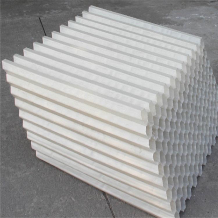 pp六角蜂窝沉淀池斜管填料 斜管填料批发供应 冷却塔填料斜管厂家