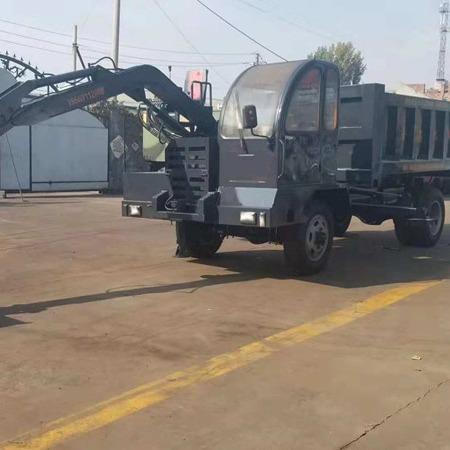 专业定制车载式挖掘机 四驱六轮四不像小挖掘机大马力