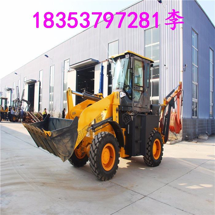 小型装载挖掘机 两头忙 装载机器 多功能挖掘机