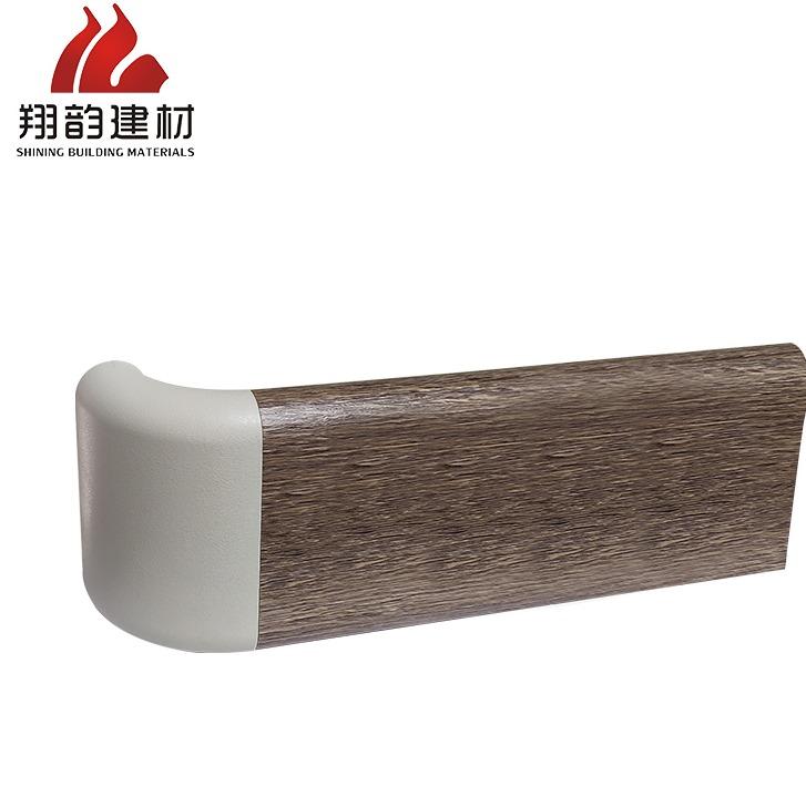 翔韵建材159系列定制色扶手医用防撞扶手pvc面板加铝合金内芯木纹纸