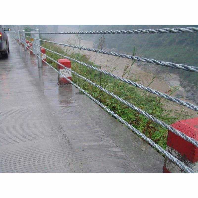 铁丝绳索护栏@路两侧缆索护栏@高山防撞安全护栏厂家