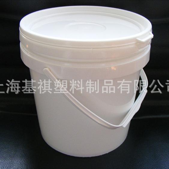 HDPE食品级大口5升白圆桶化工周转桶密封防腐耐酸碱包装桶塑料桶