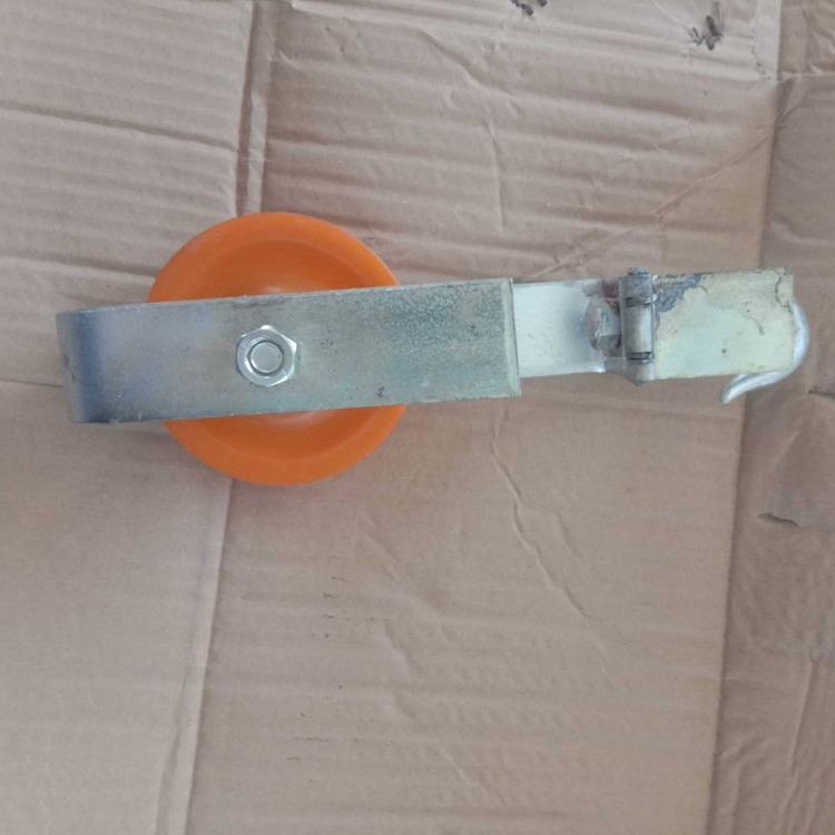 铝轮铁路电气化放线滑轮延放避雷线放线滑车开闭口滑子