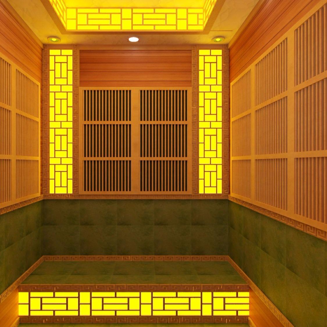 家用小型汗蒸房 红雪松桑拿房一对一量身定制