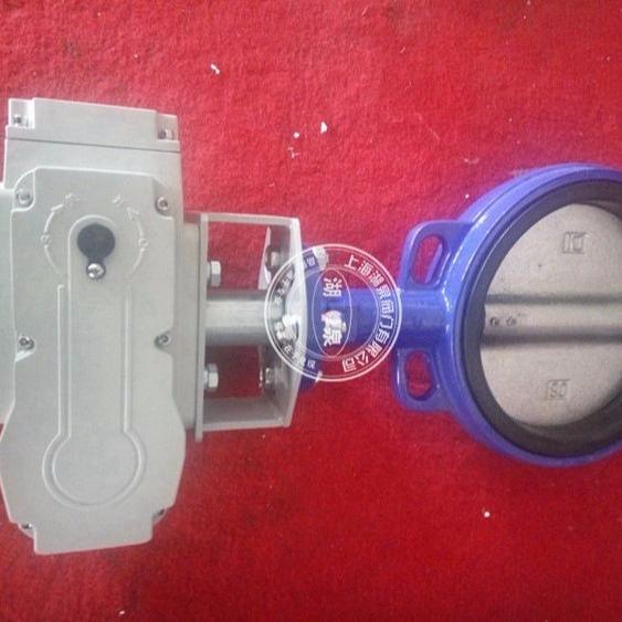 D971J电动对夹式蝶阀 橡胶软密封电动对夹蝶阀 常温水用电动蝶阀