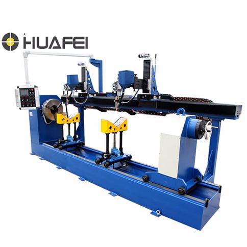 环缝自动焊接设备 油缸环缝焊接专机 卧式床结构 工业PLC 触摸式