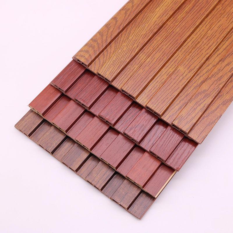 山东生态木高长城板 生态木护墙板 生态木浮雕板 包覆墙板 木纹护墙板 凹凸木塑墙板材料 临沂鑫美饰材料厂