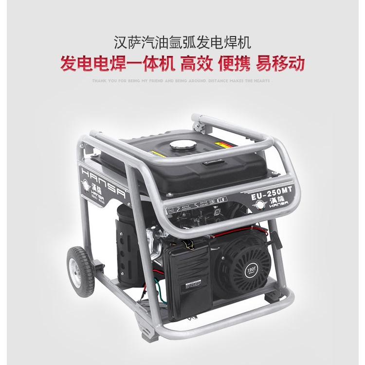 户外手推式250A汽油氩壶焊机