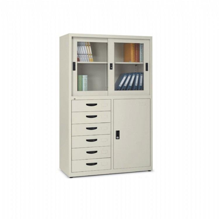 铁皮文件柜文件柜批发 文件柜定做厂家 钢制文件柜 上下文件柜 中二斗文件柜