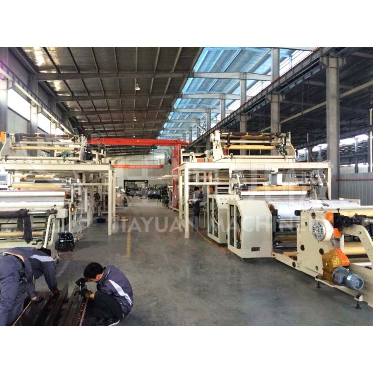 TPO CPE HDPE PVC EVA 高分子片材膜涂膠撒砂生產線