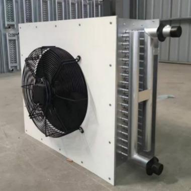 厂家批发鸡舍保温水暖风机鸭舍保暖热水换热器禽舍升温铜管热水暖风机