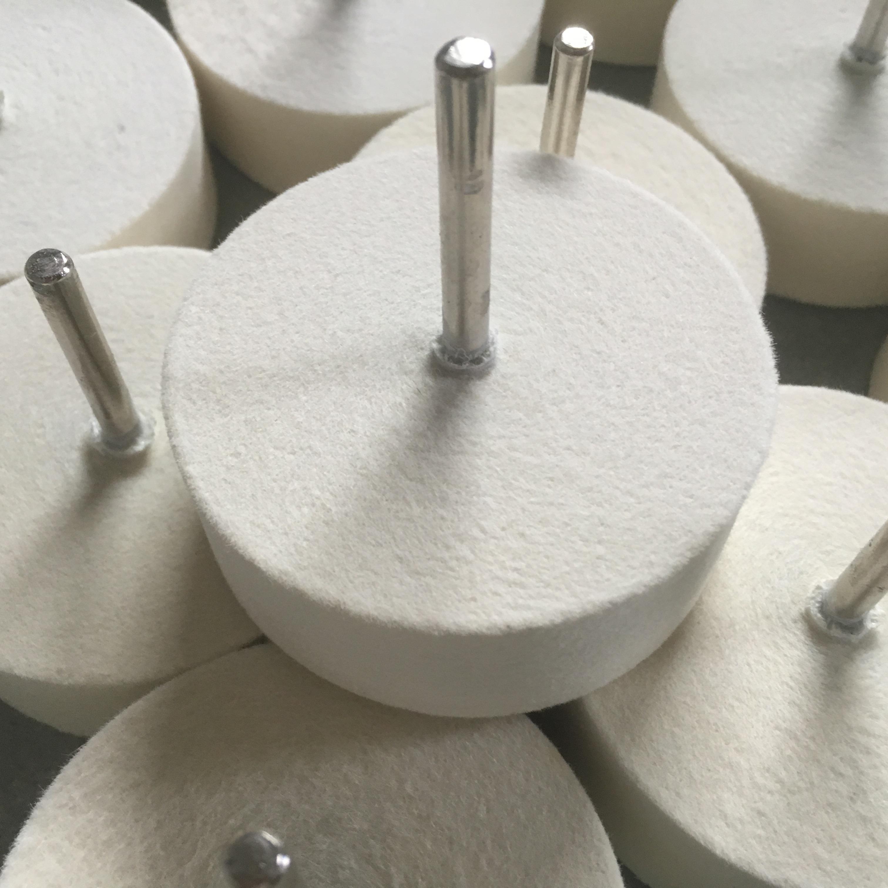 厂家供应子弹头、圆柱、锥形等各种形状的抛光羊毛磨头软硬都有