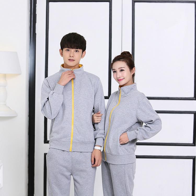 男士秋冬卫衣 纯色拉链运动广告衫定制 棒球服长袖工作服定做 上海厂家直销