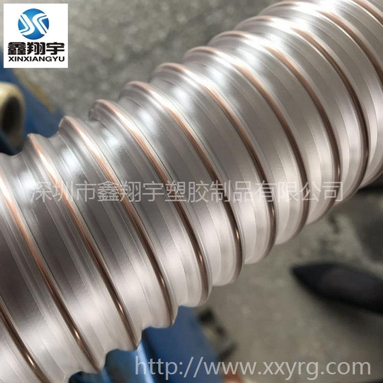 pu塑料钢丝波纹软管_耐磨物料输送管_吸尘软管