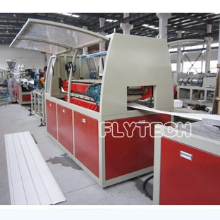 PVC外墙装饰挂壁板生产线  PVC装饰型材生产线