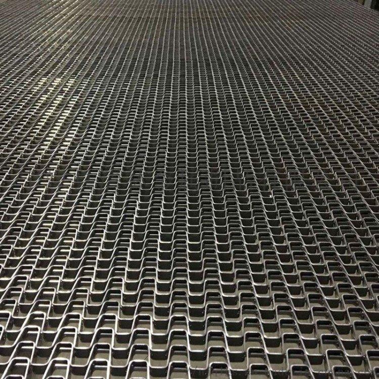 定制耐磨过滤机不锈钢长城网  包装流水线输送机耐高温耐腐蚀马蹄链